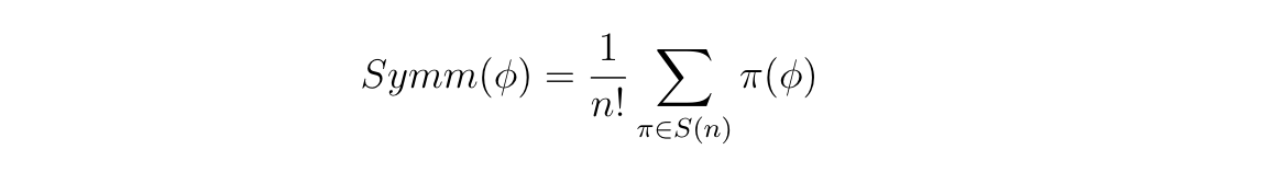 Symm Formula